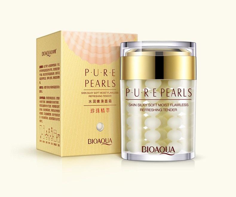 Крем для ухода за кожей BIOAQUA Bioaqua увлажняющий крем для лица с натуральной жемчужной пудрой