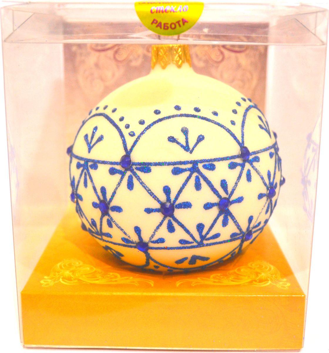 Елочный шар Снежная феерия 2, КУ-65-16/17/2, диаметр 6,5 см елочный шар снежное плетение ку 65 11 17 диаметр 6 5 см
