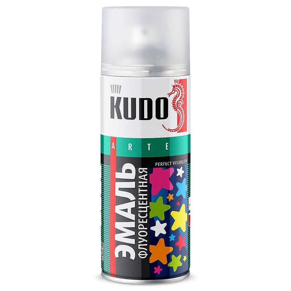 Аэрозольная краска KUDO флуоресцентная, аэрозоль, 520мл, голубой краска для кожи kudo