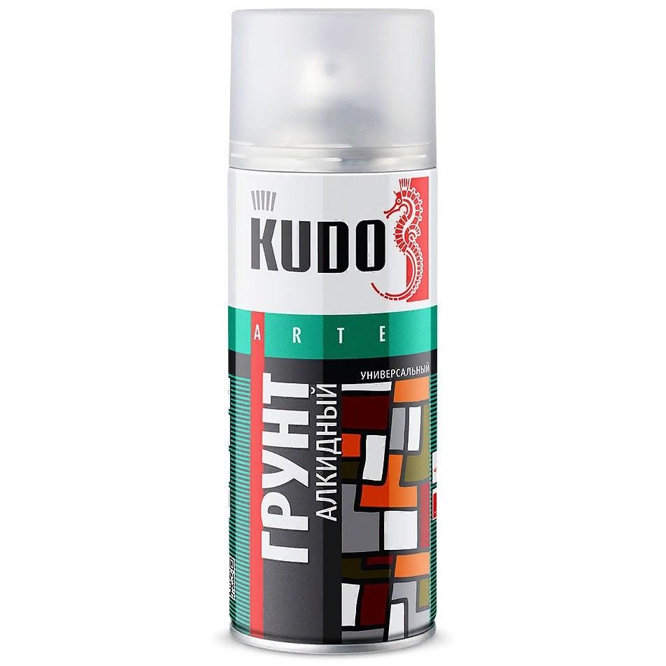 Грунтовка KUDO алкидная, аэрозоль, 520мл, серыйKU-2001Высококачественный алкидный грунт предназначен для подготовки к окраске металлических и деревянных поверхностей всеми видами лакокрасочных материалов. Применяется для наружных и внутренних работ. Обладает высокой адгезией, атмосферостойкостью и хорошей укрывистостью. Легко наносится на труднодоступные места, образует на окрашиваемой поверхности прочное покрытие.