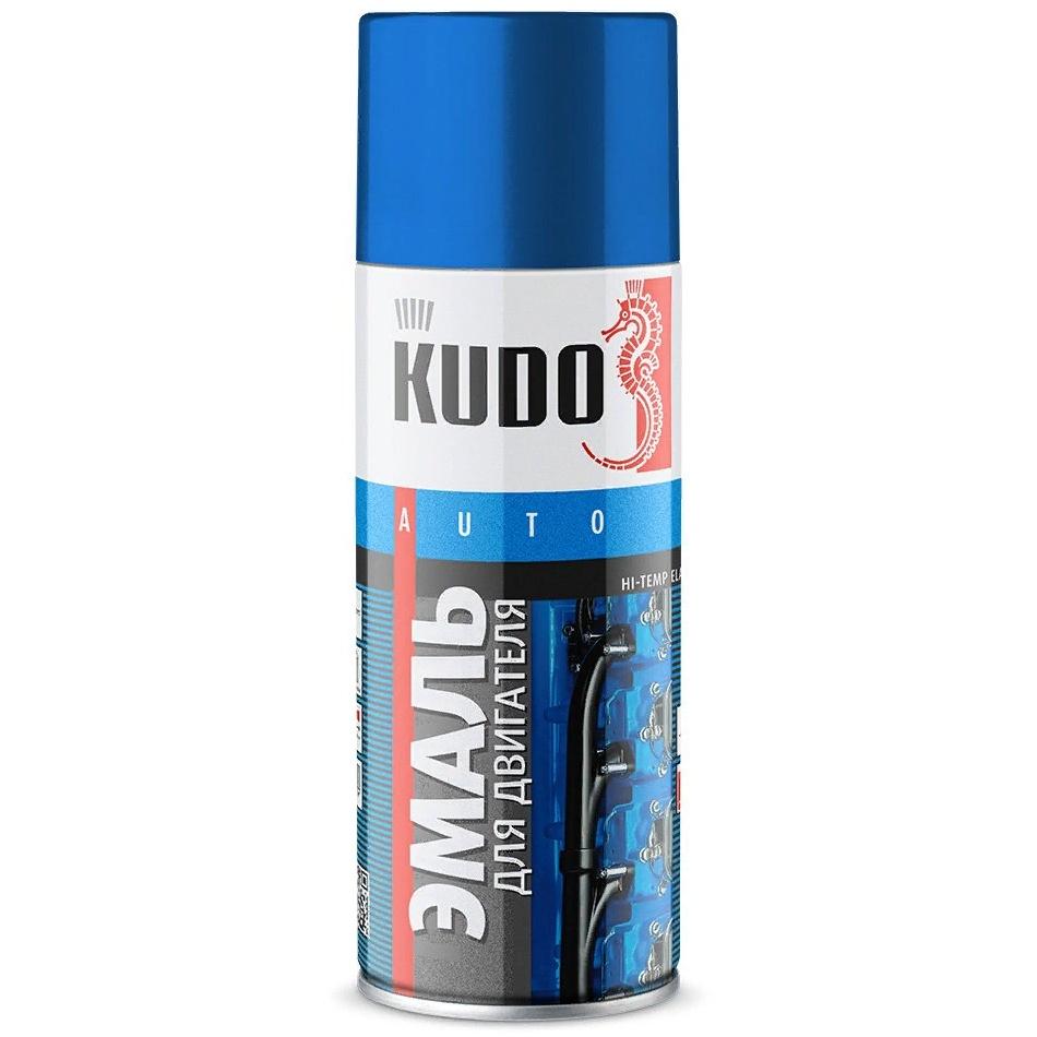 Краска автомобильная KUDO термостойкая, для двигателя, до 90 градусов, 520 мл, серебристыйKU-5132Высококачественная глянцевая термостойкая эмаль предназначена для окрашивания двигателей, деталей автомобилей и других металлических изделий, подверженных нагреву и сильной вибрации. Эластичная и ударопрочная. Защищает от коррозии, предотвращает последующее загрязнение окрашенной поверхности. Легко наносится на труднодоступные места, имеет хорошую укрывистость и атмосферостойкость.