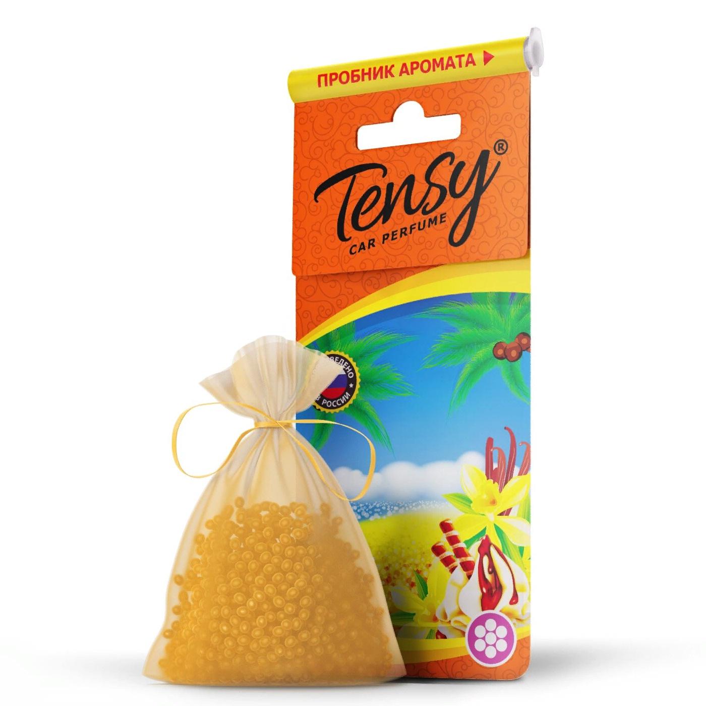 Автомобильный ароматизатор Tensy мешочек, основа гранулы, Ваниль мешочек ароматизатор 4 буквы