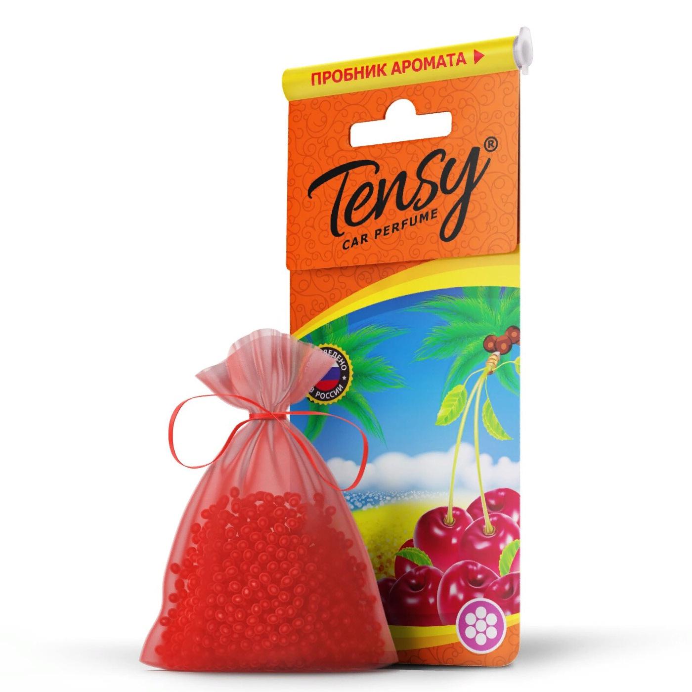Автомобильный ароматизатор Tensy мешочек, основа гранулы, Вишня мешочек ароматизатор 4 буквы