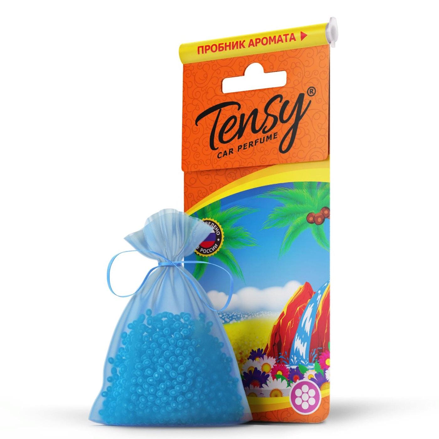 Автомобильный ароматизатор Tensy мешочек, основа гранулы, ВодопадTTE-07Ароматизатор воздуха подвесной. Предназначен для использования в автомобиле, доме или офисе.