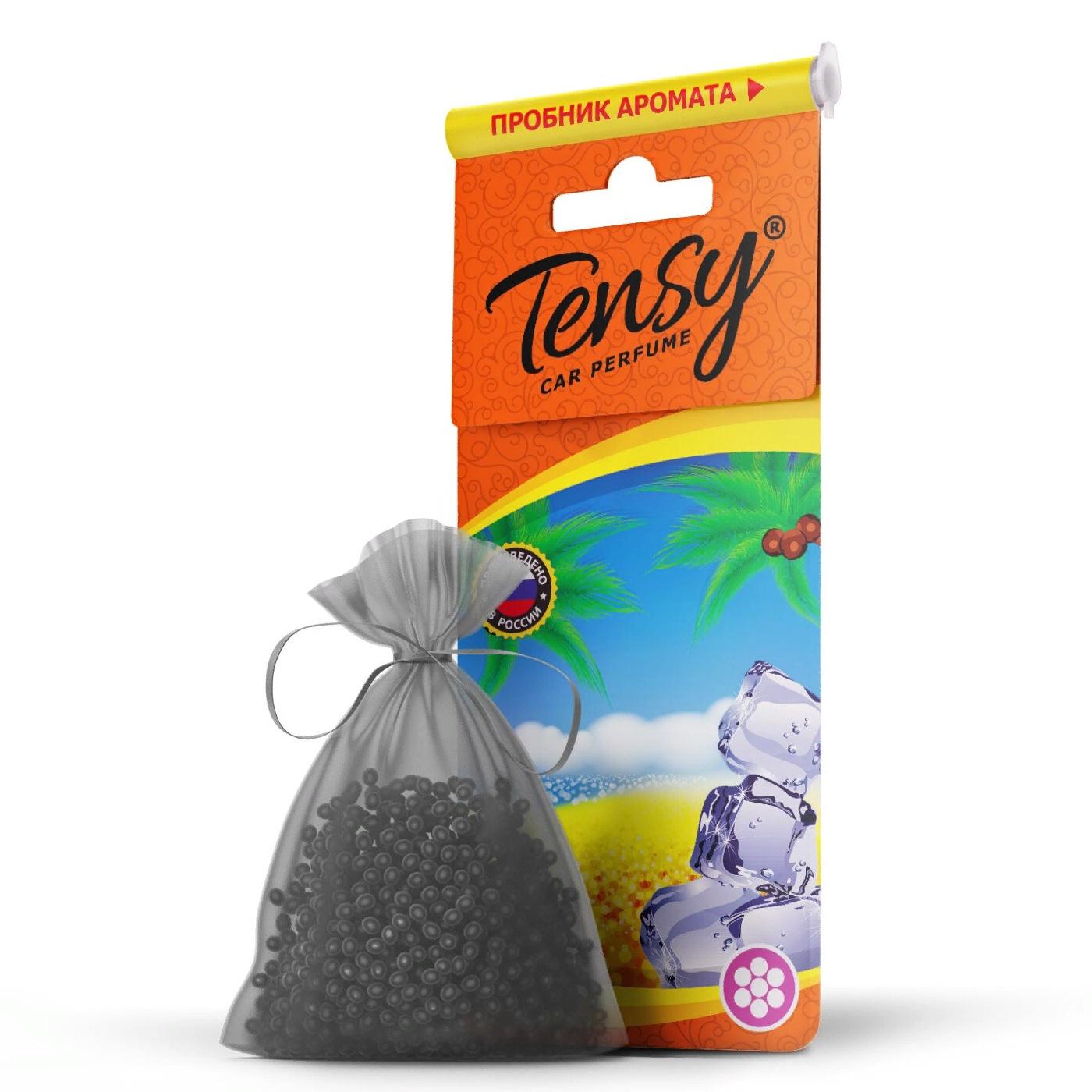 Автомобильный ароматизатор Tensy мешочек, основа гранулы, Черный лед мешочек ароматизатор 4 буквы