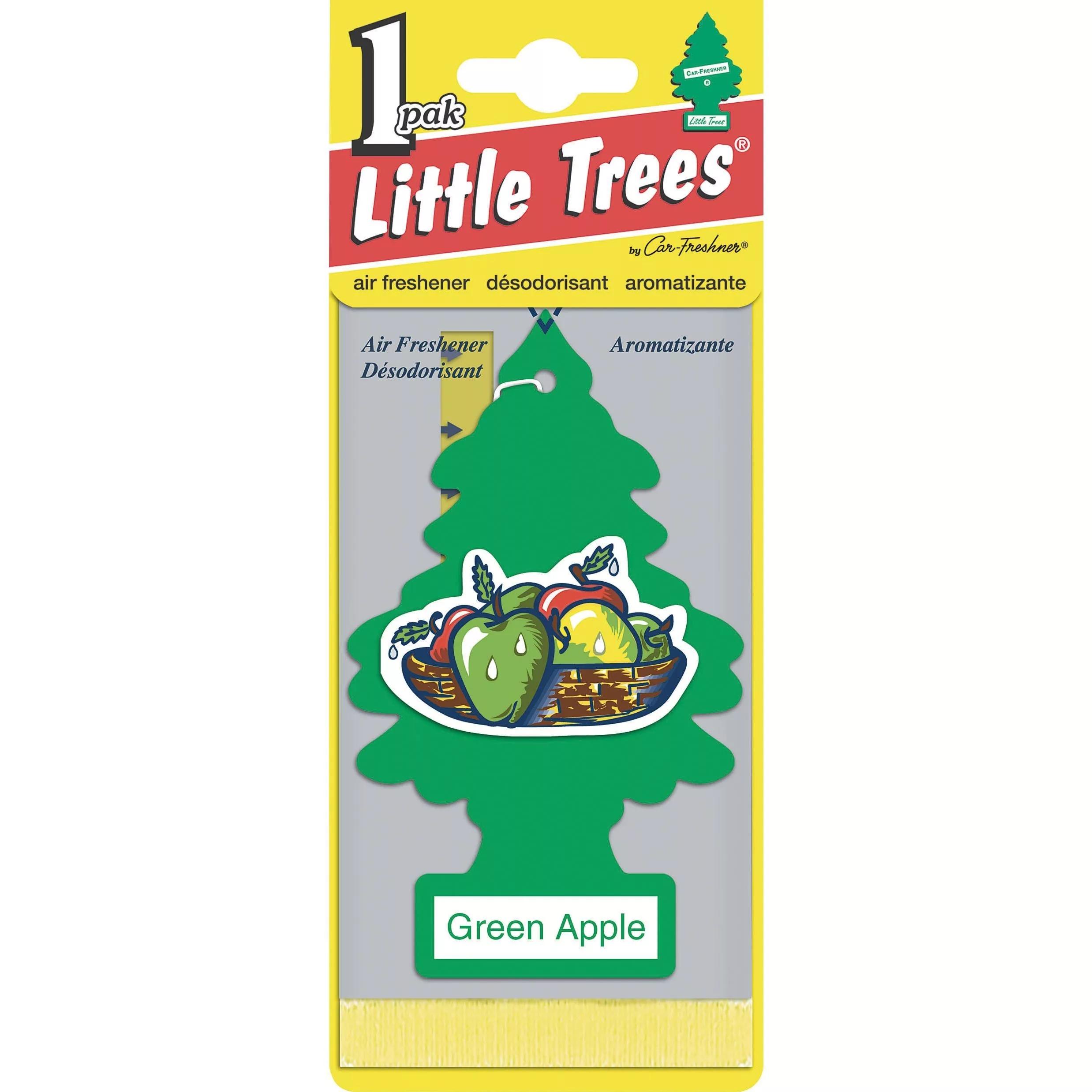 Автомобильный ароматизатор Car-Freshner Little Trees, зеленое яблоко, США автомобильный ароматизатор car freshner little trees зеленое яблоко сша