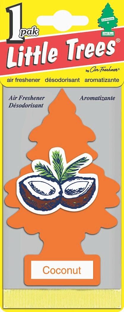 Автомобильный ароматизатор Car-Freshner Little Trees, кокос, США ароматизатор car freshner mixed naturals лайм с лимоном