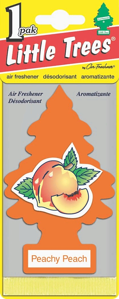 Автомобильный ароматизатор Car-Freshner Little Trees, персик, США ароматизатор car freshner mixed naturals лайм с лимоном