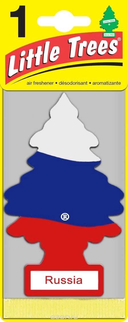 Автомобильный ароматизатор Car-Freshner Little Trees, ваниль, российский флаг, США ароматизатор car freshner mixed naturals лайм с лимоном