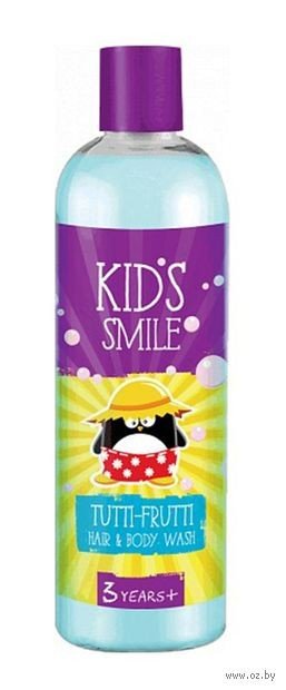 Детский шампунь-гель душ Фабрика Ромакс Kids Smile Тутти Фрутти, 500 г зубная паста babyline тутти фрутти