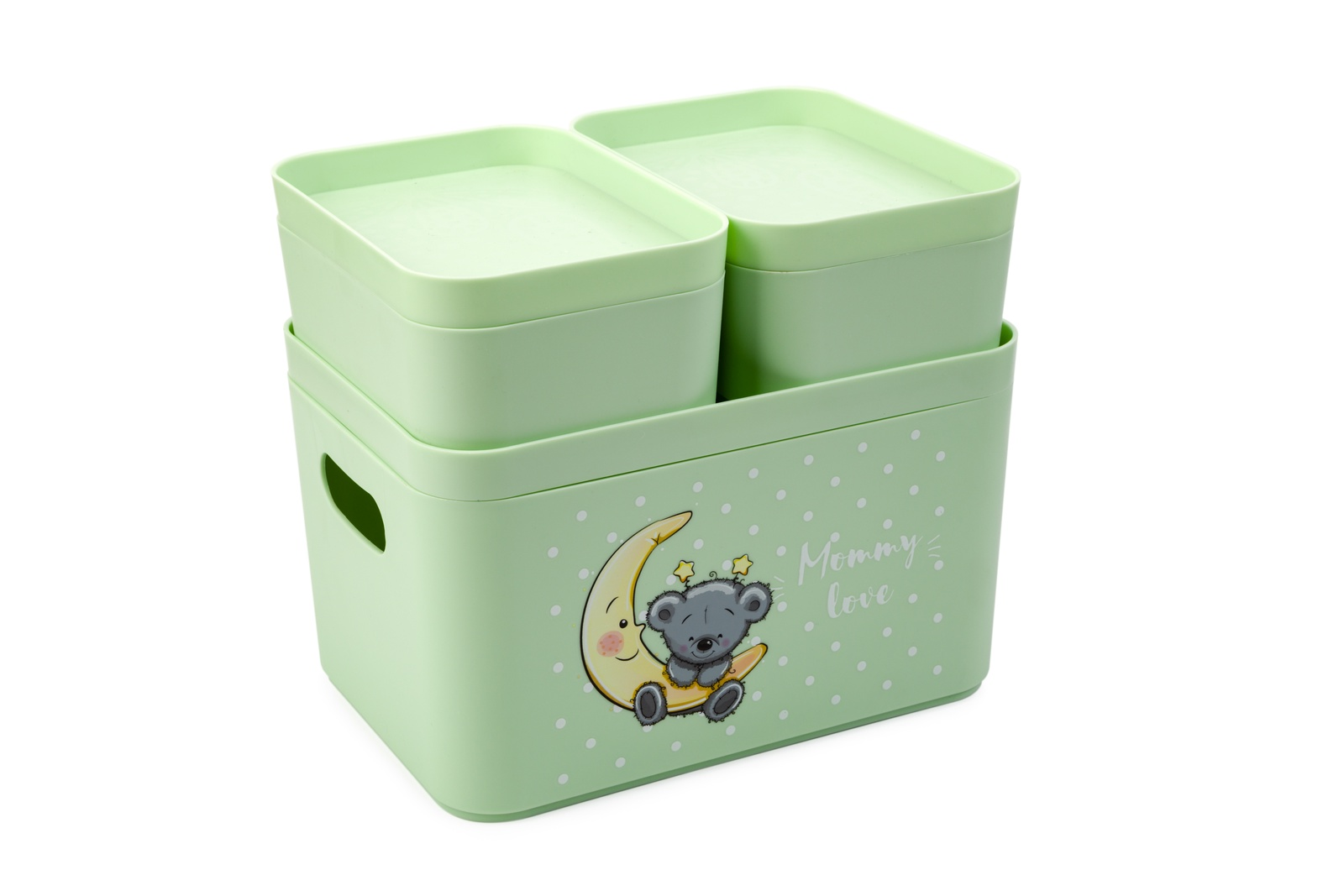 Органайзер для вещей Berossi Mommy love (чайное дерево),16х11х6 см и 16х22х14, светло-зеленый калинов лимонад сказочный ключик 12 шт по 0 5 л