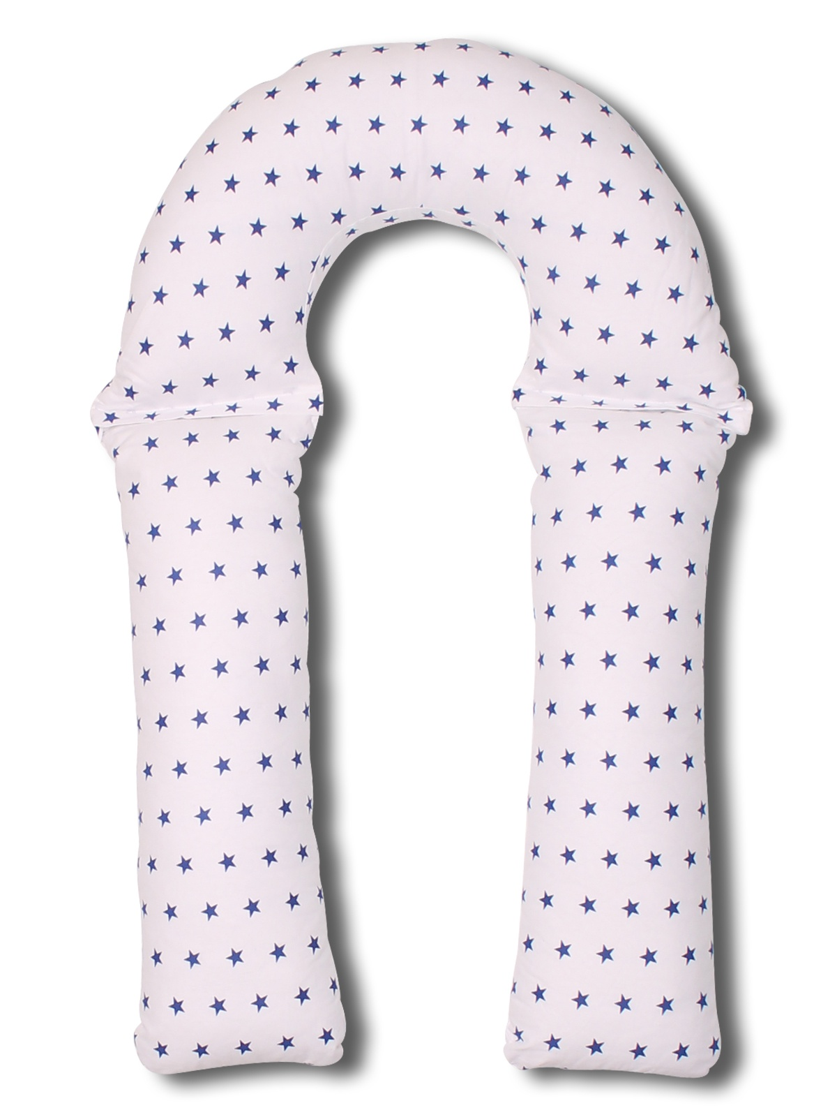 Подушка Т90х150 холлофайбер + наволочка бело-синие звезды