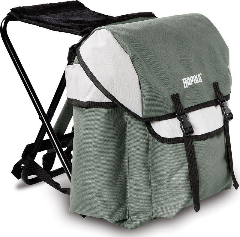 купить Рюкзак-стул Rapala Iceman, цвет: серый, черный. 46037-1 недорого