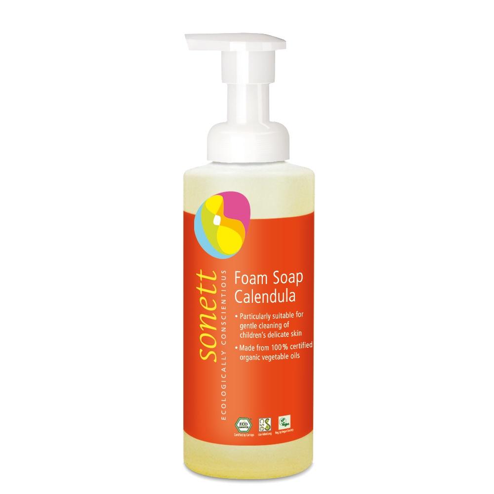 Мыло туалетное Sonett Пенное мыло для детей- Календула. Экологически чистое, органическое. 200 мл