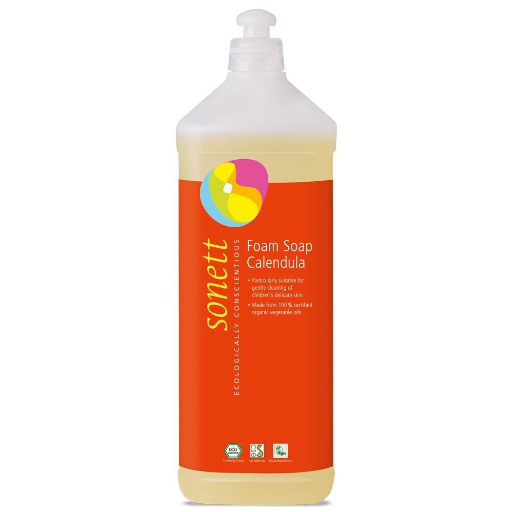 Мыло туалетное Sonett Пенное мыло для детей- Календула. Экологически чистое, органическое. 1л