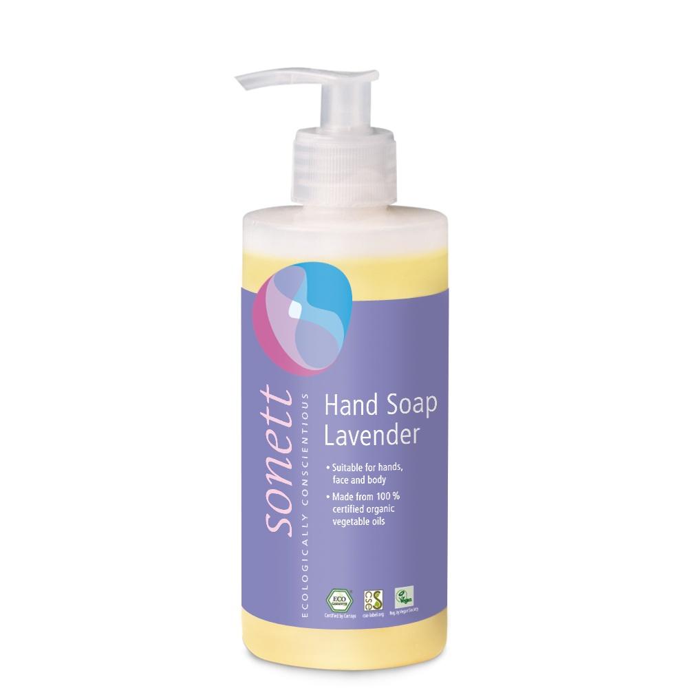 Мыло туалетное Sonett Жидкое мыло для рук и тела- Лаванда. Экологически чистое, органическое, 300 мл