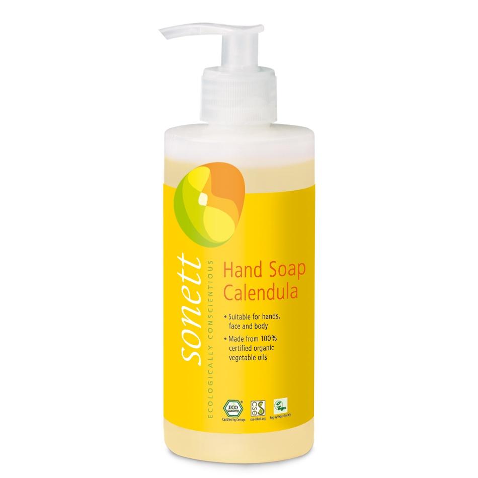 Мыло туалетное Sonett Жидкое мыло для рук и тела- Календула. Экологически чистое, органическое, 300 мл