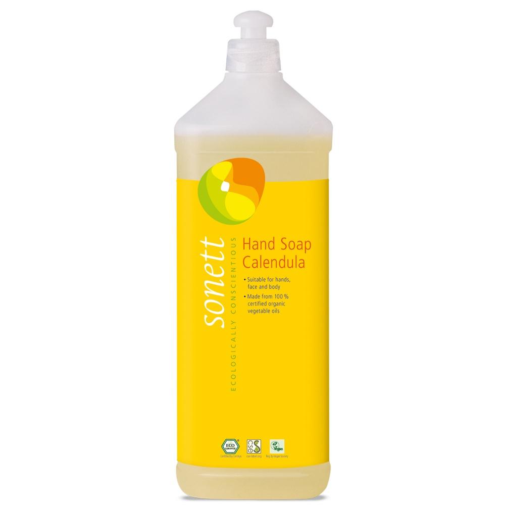 Мыло туалетное Sonett Жидкое мыло для рук и тела- Календула. Экологически чистое, органическое, 1 л