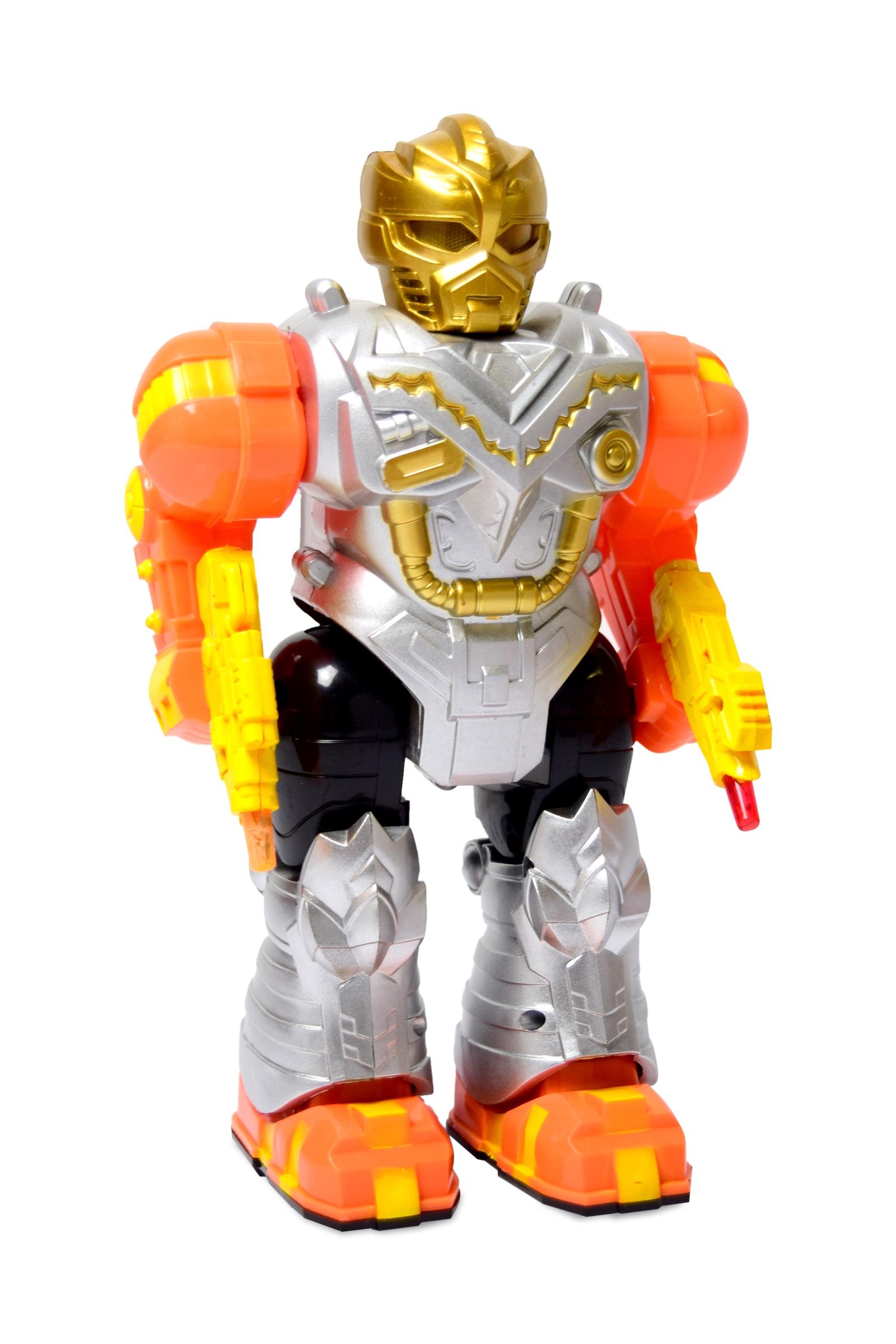 Игрушечный робот JT TOYS, Т170-D854/, серебристрый, оранжевый игрушечный робот little tikes вращающийся робот 647536e4c 647536 розовый