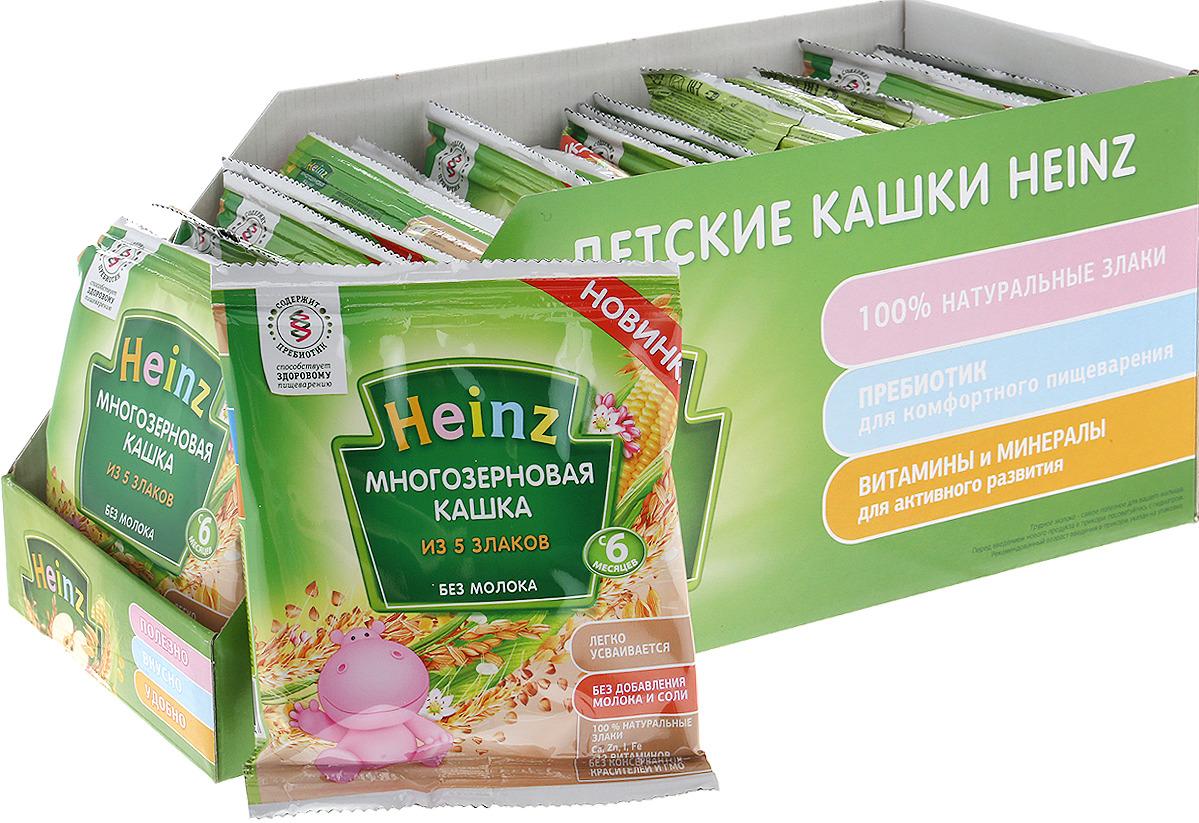 Каша Heinz многозерновая из пяти злаков, 6 месяцев, 25 шт по 30 г heinz каша многозерновая из пяти злаков с 6 месяцев 200 г