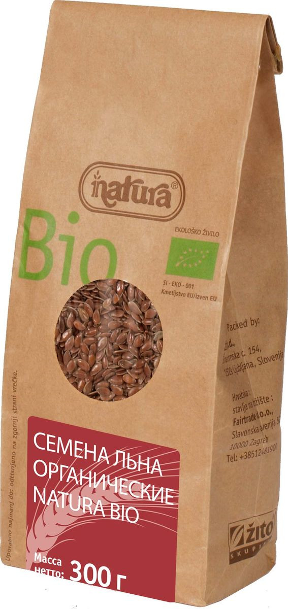 Zito Natura Bio Cемена льна органические, 300 г3400301Семена льна – один из древнейших видов семян, обладающий многочисленными полезными свойствами. Они богаты клетчаткой, витаминами и минералами. Органические продукты Natura имеют маркировку в соответствии с законодательством и европейскую экологическую маркировку сертифицированных органических продуктов питания, так как при их производстве не используются удобрения и распылители, запрещенные в органическом производстве и обработке. Органические продукты произведены под контролем SI - EKO - 001. Органические продукты Natura производятся в регионах, где природа пока еще живет своей жизнью. Они попадают на полки магазинов и на столы людей, выбирающих здоровое питание, в той же форме, в которой их создала природа: натуральными, питательными и здоровыми. Разнообразные натуральные зерна и семена обладают всеми свойствами злаков, полностью сохраняя, таким образом, свои полезные качества. Лайфхаки по варке круп и пасты. Статья OZON Гид Рекомендуем!