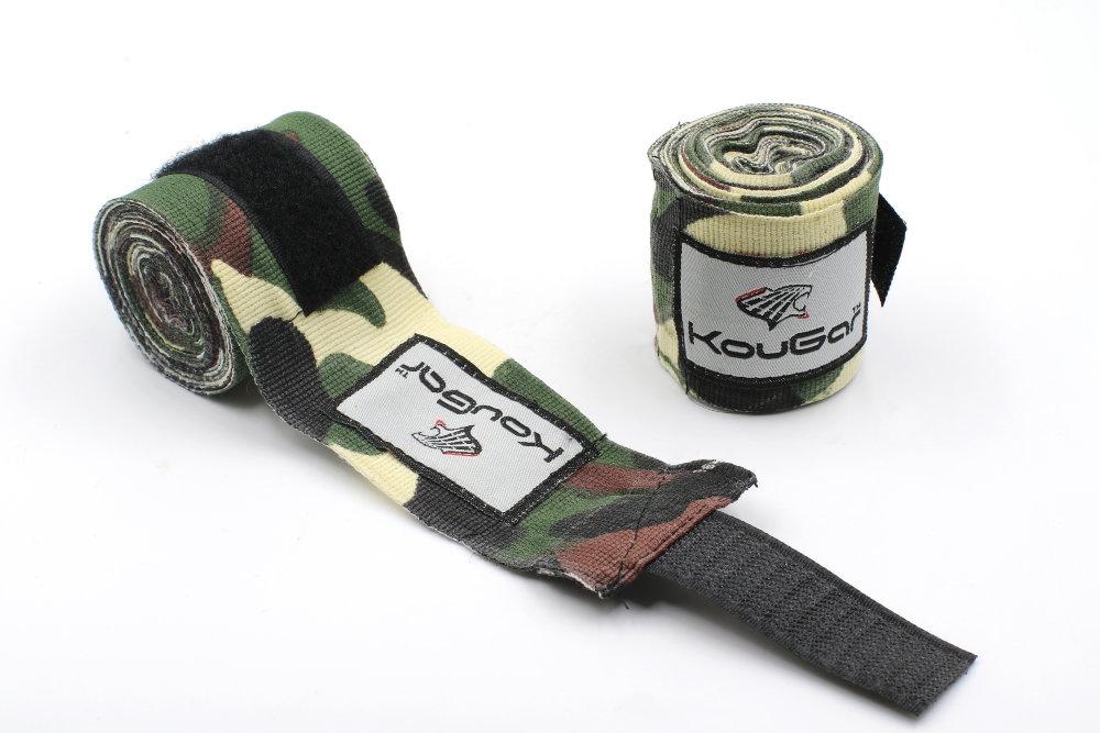 Бинт боксерский KOUGAR K700, 3,5м, эластичный хлопок, камуфляж зеленый тонус бинт средней растяжимости эластичный 10x300см с застежкой