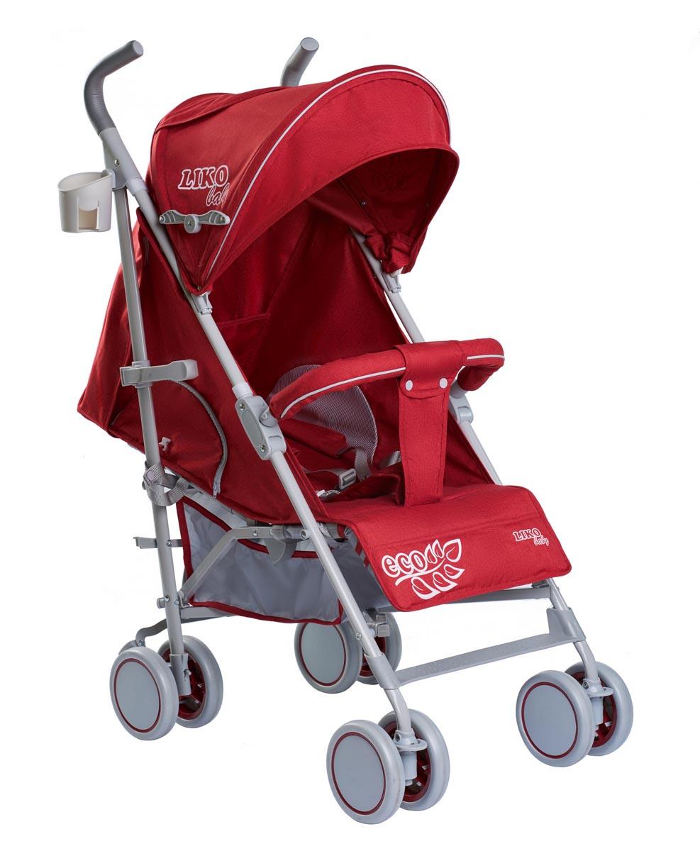 Коляска-трость Liko Baby City Style BT109, красный