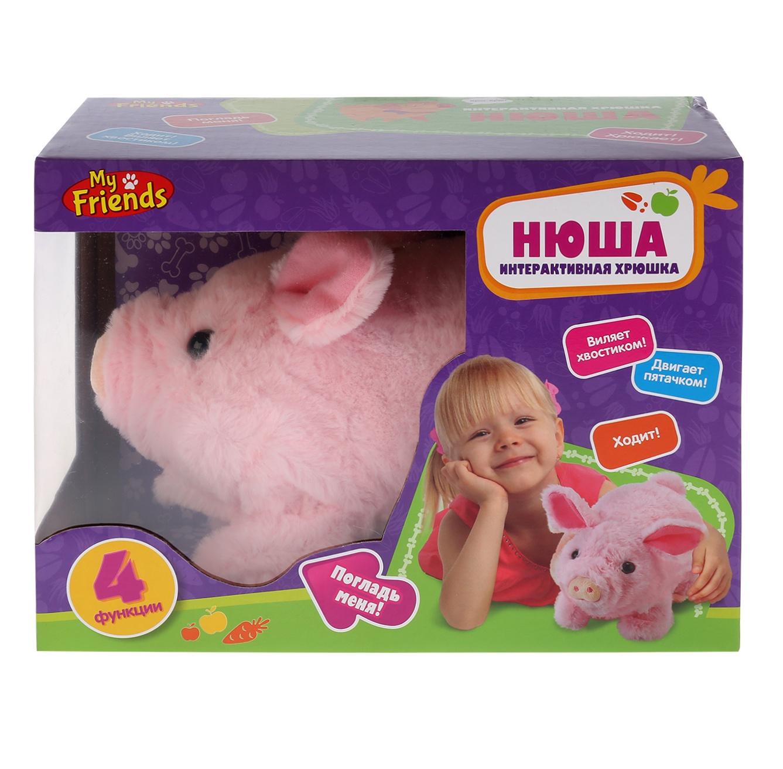 Фото - Интерактивная игрушка MY FRIENDS JX-2632 розовый интерактивная игрушка my friends пони барти музыкальный 5 функций ходит 17 см hth412b