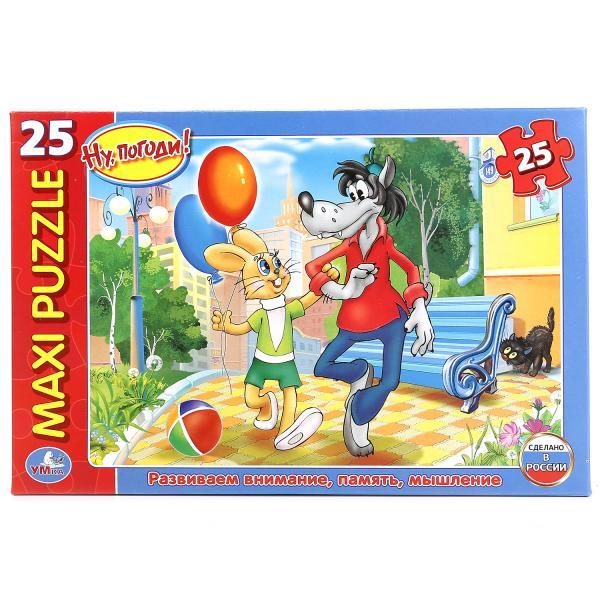 Пазл Умка Ну погоди, 25 деталей, 242121 макси пазл умка домашние животные в коробке 25 деталей картон в кор 20шт