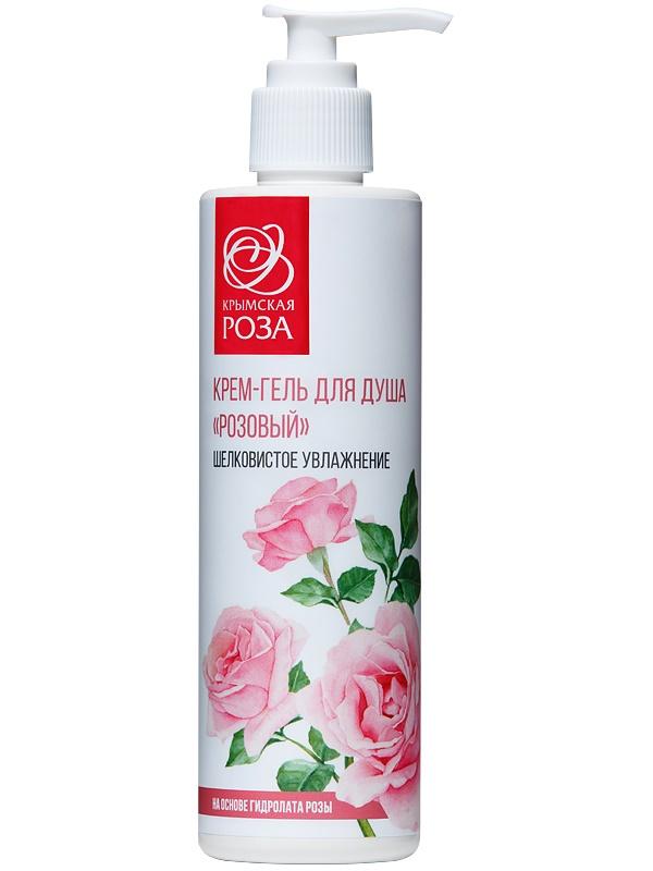 Гель для душа Крымская роза Крем-гель для душа Розовый 250 мл аромамания экзотический гель для душа с эфирными маслами сандала пачули розы 250 мл