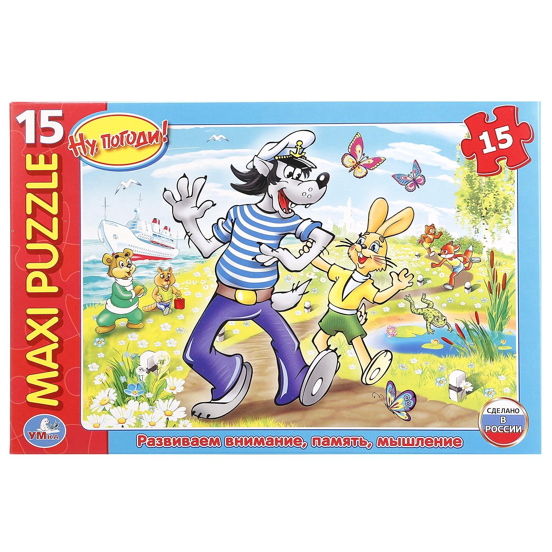 Пазл Умка Ну погоди! 15 деталей, 242110 макси пазл умка домашние животные в коробке 25 деталей картон в кор 20шт