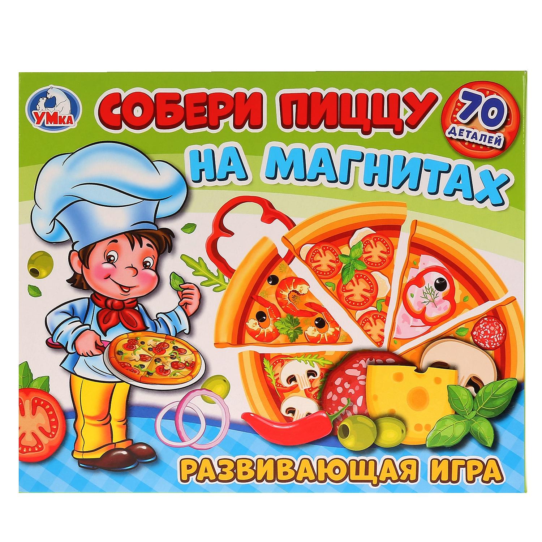 Игра развивающая Умка Собери пиццу на магнитах, 248893, разноцветный развивающая игра на магнитах времена года