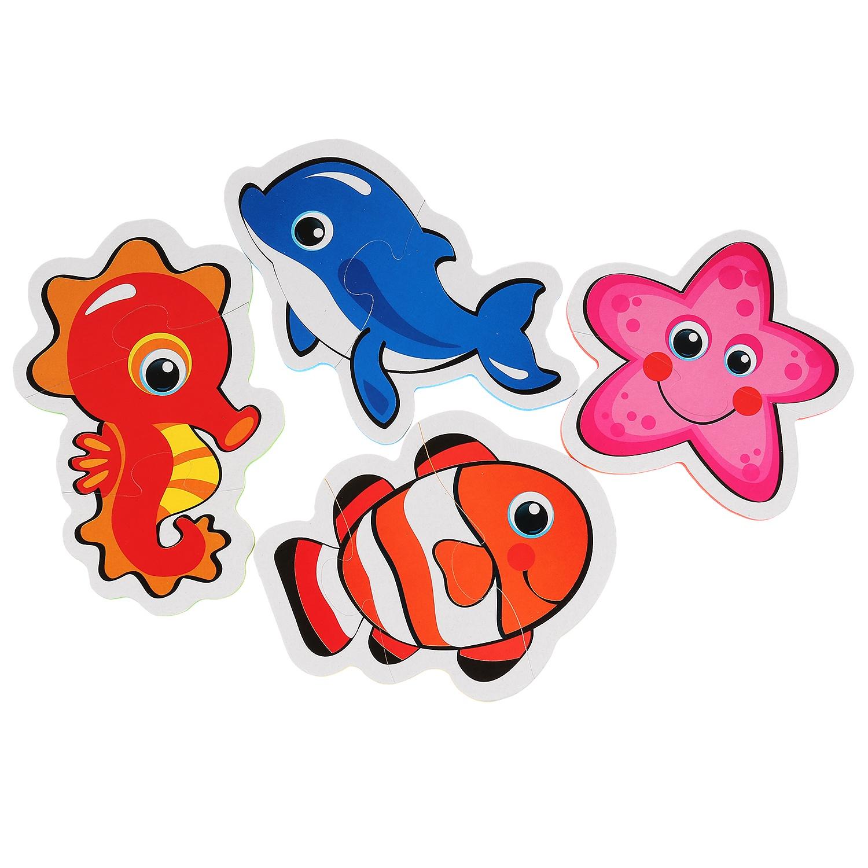 Пазл Умка Морские животные 4 детали, 256811