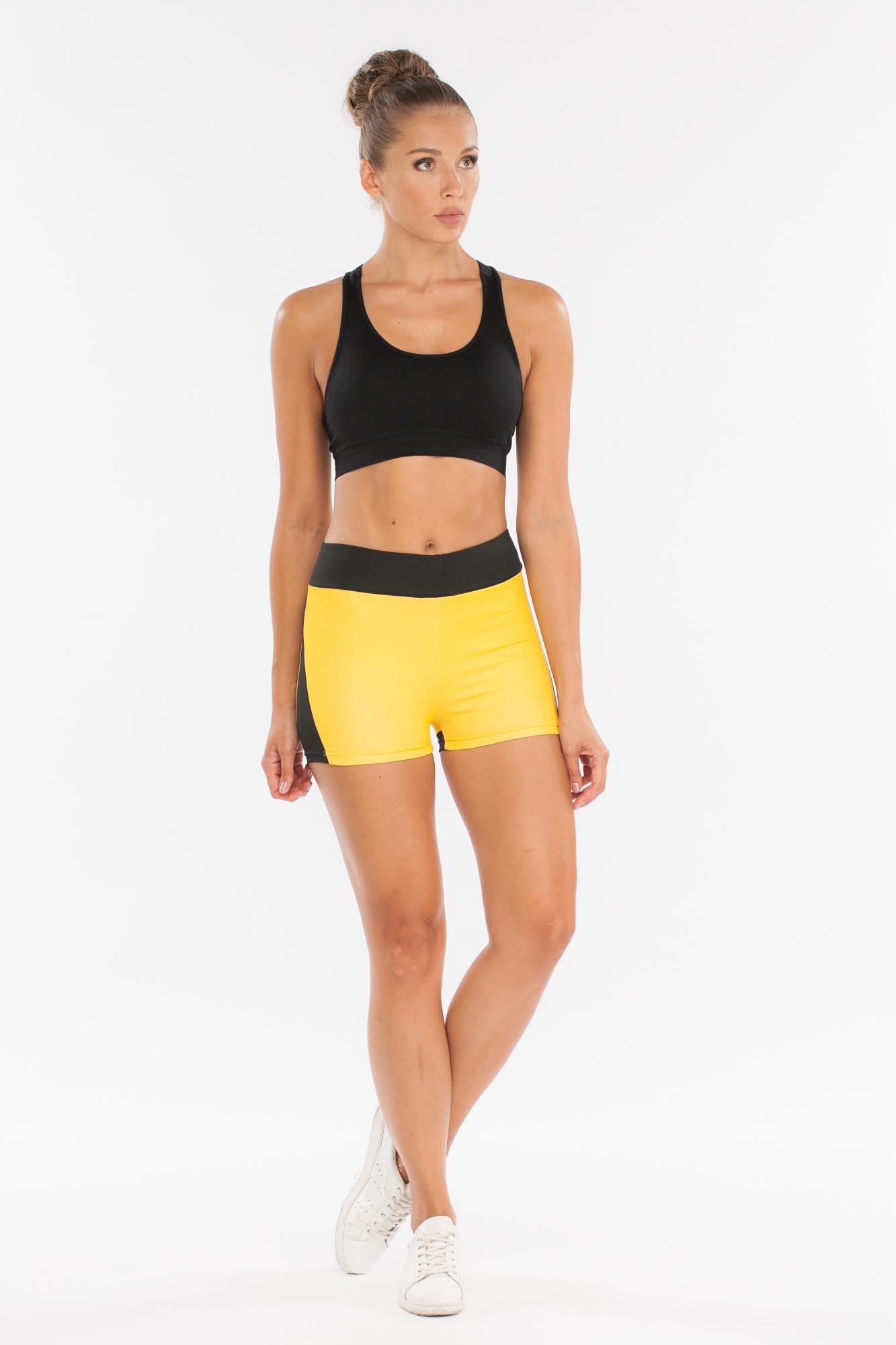 Шорты MORERA, желтый 44/46-165 размер95030 BLACK/YELLOW (M)Шорты спортивные для фитнеса, йоги, бега и других разных видов спорта.