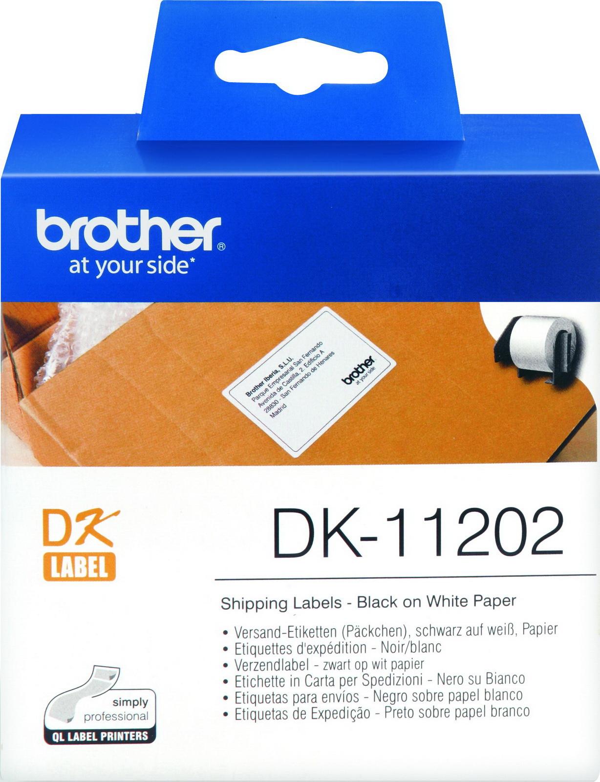 Наклейки Brother DK11202 почтовые 62х100мм (300шт)