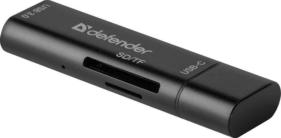 Картридер универсальный Defender Speed Stick USB3.1 TYPE C - USB/SD/TF карт ридер defender multi stick usb 2 0 type a b c sd tf 83206
