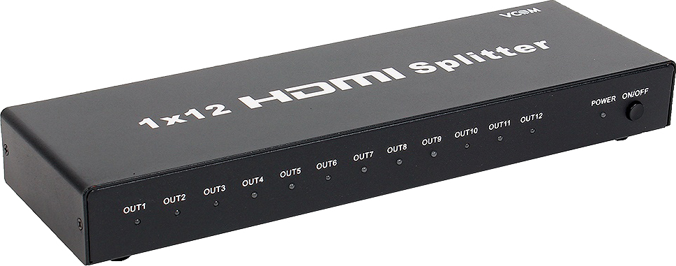 Разветвитель HDMI Splitter 1 to 12 VCOM  3D Full-HD 1.4v, каскадируемый hot sale full hd projector 5500lumens video hdmi usb tv 1280x800 hd home theater video 3d led projetor proyector beamer