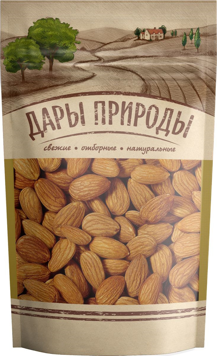 Орехи Дары природы Миндаль жареный, 150 г дары природы кайса абрикос сушеный 150 г