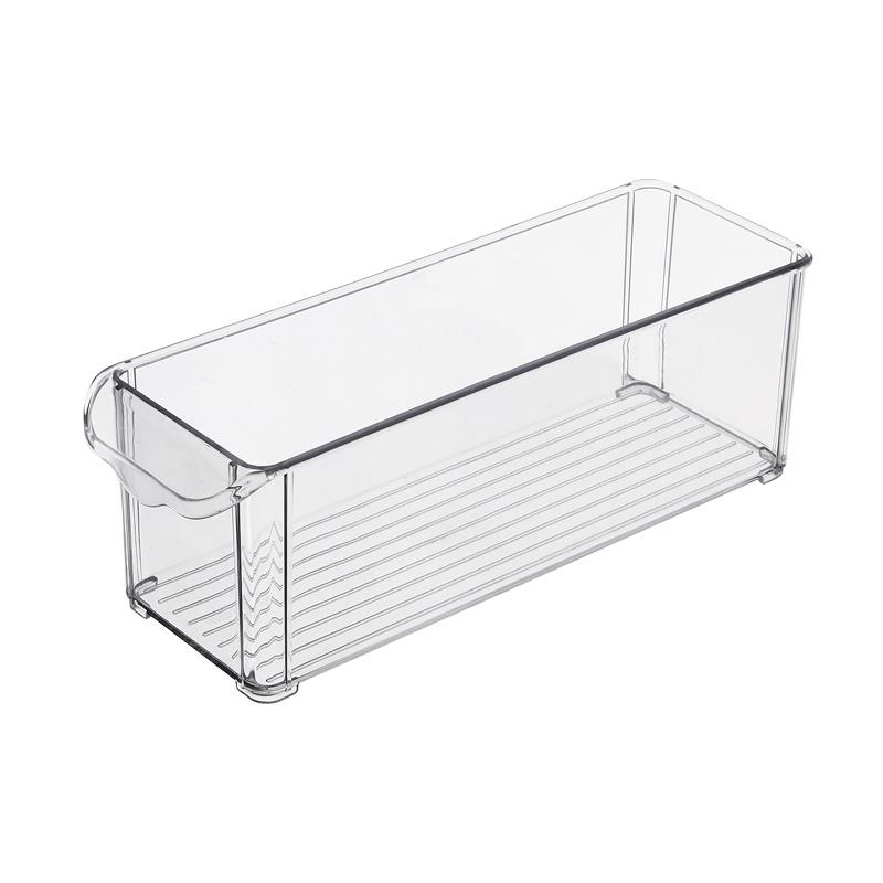 Контейнер-органайзер для холодильника Homsu, HOM-1064, 30 х 10 х 10 см, прозрачный контейнер giaretti цвет кремовый прозрачный 29 2 х 17 х 11 см