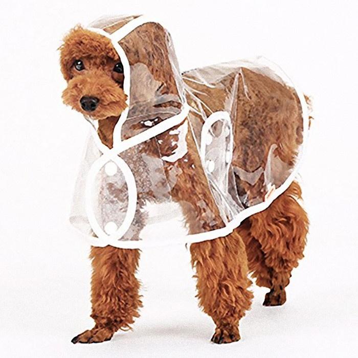 дождевики Плащ UniGood для животных, UN-03-001/XL, проззрачный