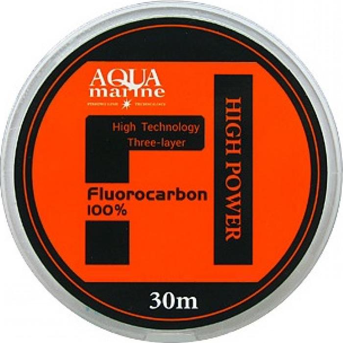Леска Aqua Marine Fluorocarbon 100%, 0,094 мм, 1,13 кг, 30 м, УТ000029879, белый леска aqua fc ultra fluorocarbon 100