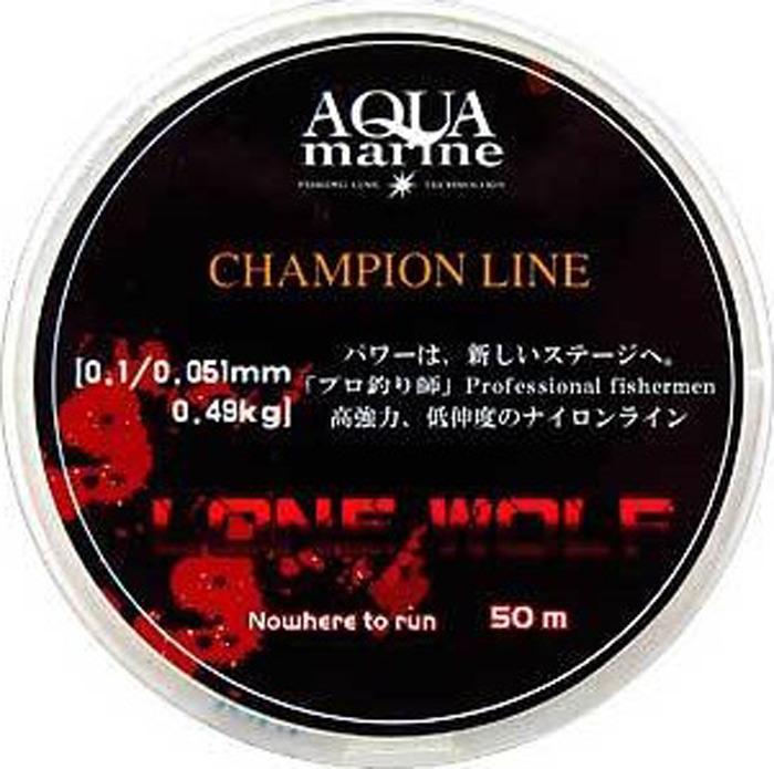 Леска поводочная Aqua Marine Lone Wolf, 0,051 мм 0,49 кг, 50 м, УТ000029893, белый