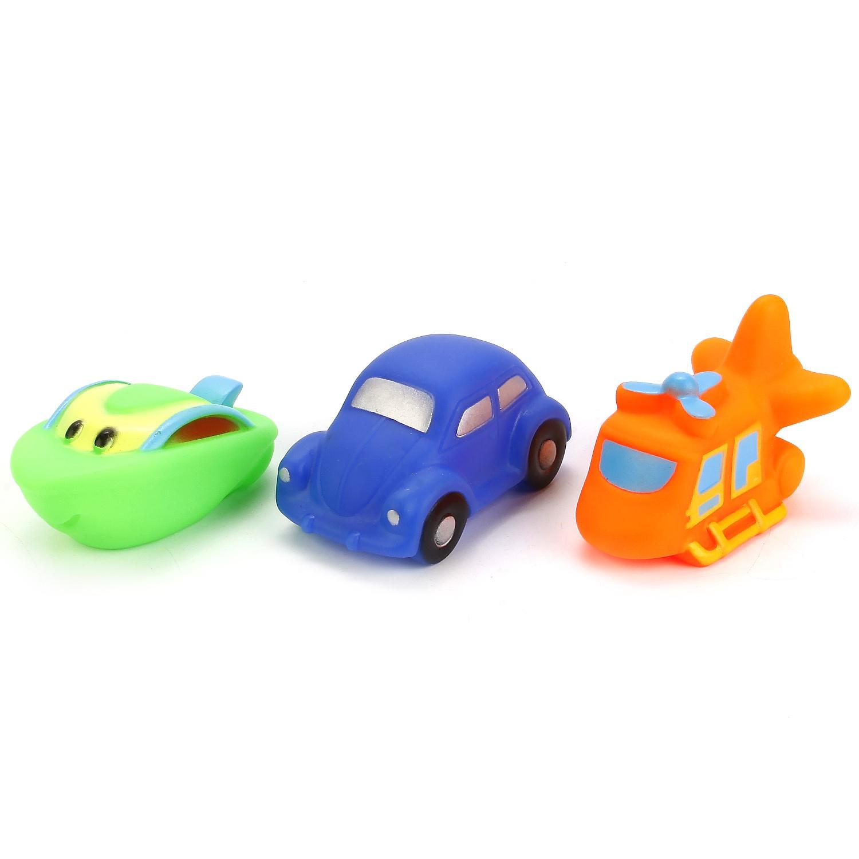 Ишрушки для ванны Играем вместе Вертолет, машина, катер 232663 ишрушки для ванны играем вместе 3 дракона 239223