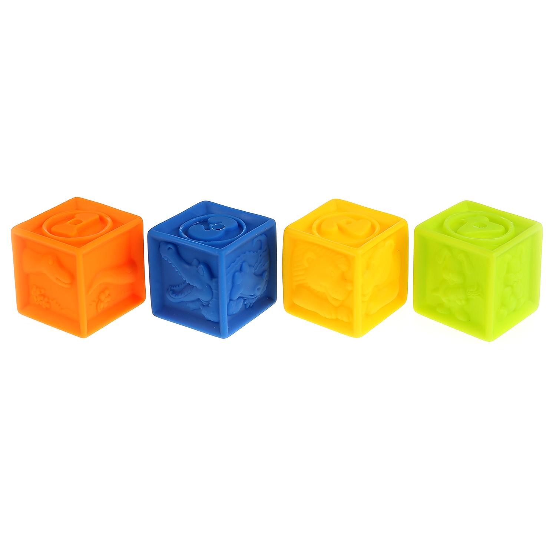 Игрушки для купания Играем вместе Кубики 255961, 4 шт игрушки для ванны babymoov игрушка для купания кубики а104925