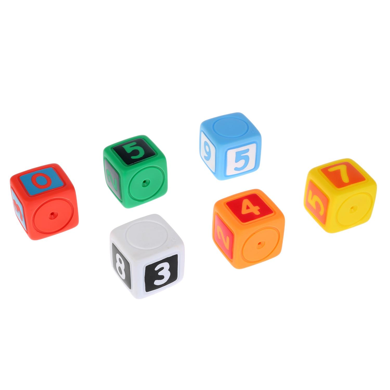 Игрушки для купания Играем вместе Кубики с цифрами 255962, 6 шт игрушки для ванны babymoov игрушка для купания кубики а104925
