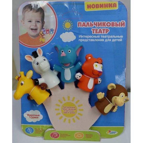 Игрушка для ванной Капитошка Набор игрушек на пальцы Капитошка Животные Африки, 5 шт., 260830 все цены