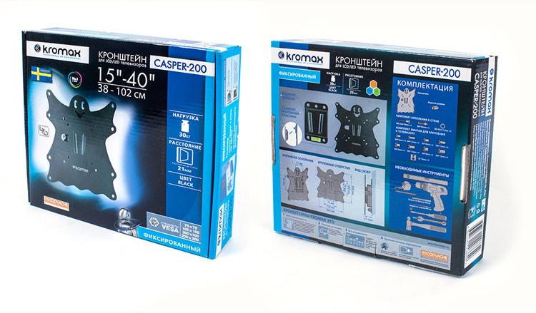Кронштейн для ТВ Kromax CASPER-200 black