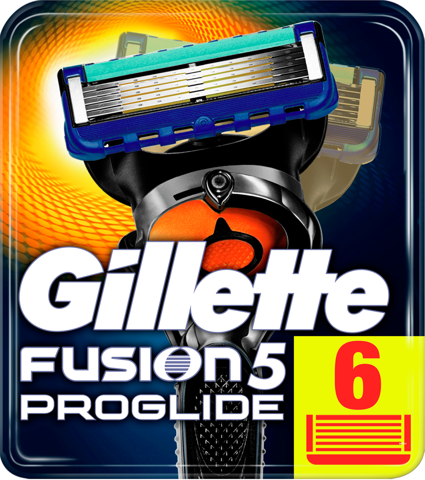 Сменные кассеты Gillette Fusion5 ProGlide, 6 шт сменные кассеты для мужской бритвы fusion proglide gillette 6 шт