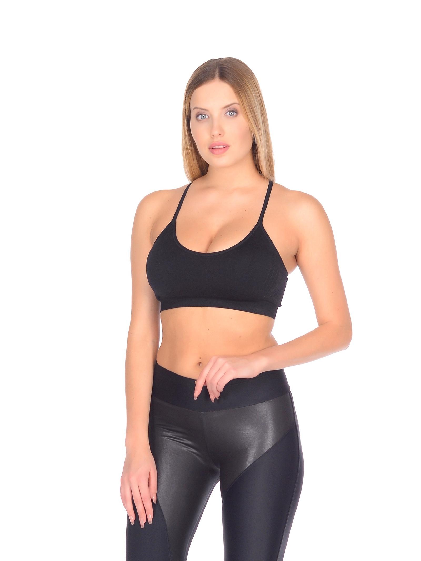 Топ Pro-fit11693 BLACK (S)Споривный топ для фитнеса, побежки, йоги и т.д.