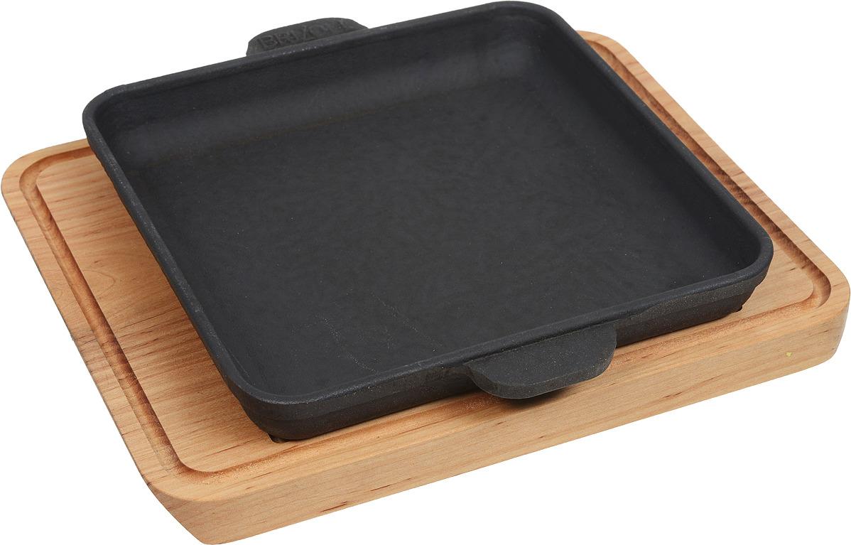 Сковорода Brizoll, порционная, с двумя ручками. 18 х 18 см. Н181825-Д сковорода brizoll н181825 д 18x18cm